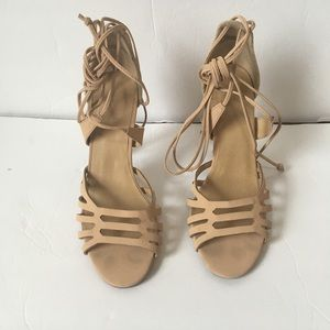 Charlotte Russe wrap around tan heels size 8